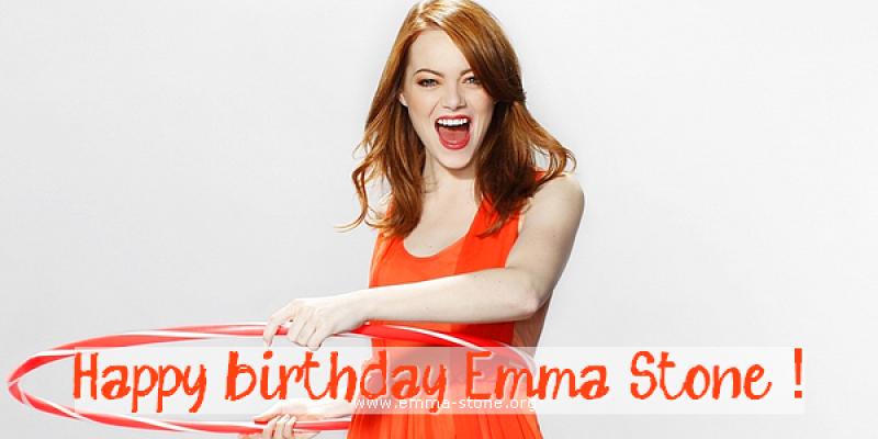 Happy birthday Emma Stone!